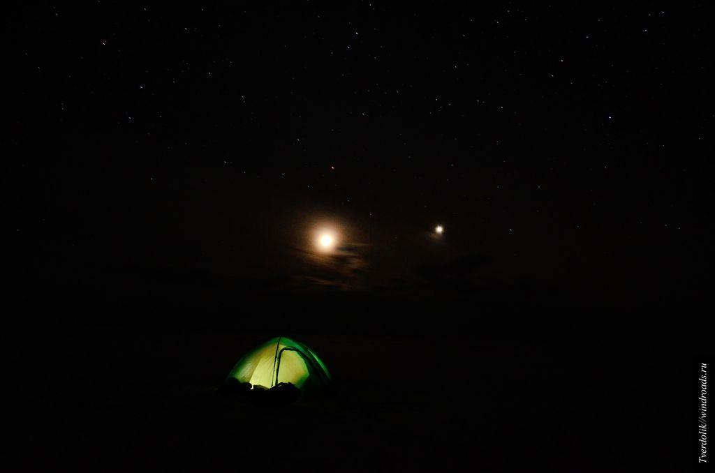 Ночь под звёздами, в 25 км. от ближайщего берега.